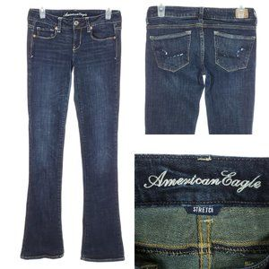 AMERICAN EAGLE Skinny Kick Jeans Flare LONG Low